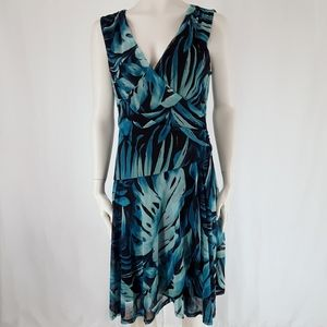 Connected Apparel | Turquoise Sheath Dress